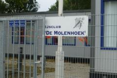 De locatie van de wijnproeverij in Alblasserdam. Er lag nog geen ijs.......