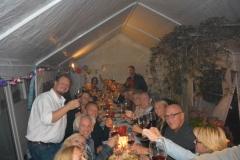 De sfeer zat er bij dit feest goed in. Het was ontzettend gezellig in Amstelveen
