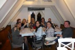 Wijnproeverij met vrienden in Amsterdam.