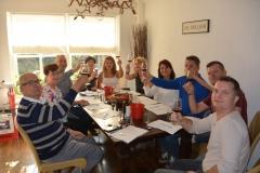 Wijnproeverij met vrienden in Veenendaal. Proost!