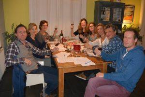 Wijnproeverij intiem met vrienden in Echten, Friesland