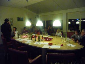 Wijnproeverij op bedrijf bij de Rabobank te Katwijk